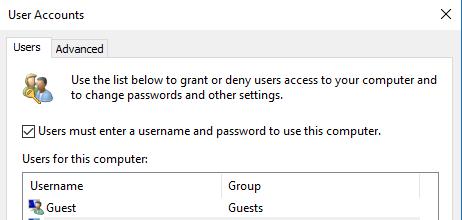 windows 7 auto login change password